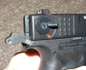 how to take safty of glock